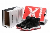 Air Jordan 11 Playoffs Bred Black Red AAA