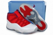Air Jordan 11 White Red Blue Transparent Packaging AAA