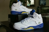 Air Jordan 5 Perfect White Blue Yellow