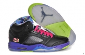 Perfect Air Jordan 5 Bel-Air Black Leather