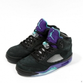 Super Perfect Air Jordan 5 Retro Black Grape Purple