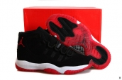 Air Jordan 11 Retro Suede Black White Red