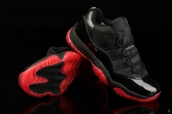 AAA Air Jordan 11 Low Black Red