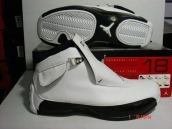 Air Jordan 18 White Black