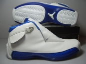 Nike Air Jordan 18 Leather White Blue