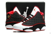 AAA Air Jordan 13 Black White Red