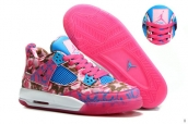 AAA Air Jordan 4 Women Limited Edition Pink Rose Blue