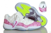Perfect Air Jordan 11 Women Low Snake White Pink 220