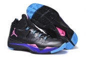 Women Jordan Superfly 2 Black Blue Purple