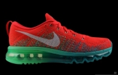 Nike Flyknit Air Max Red Green White