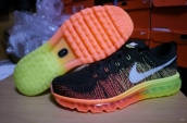Nike Flyknit Air Max Black Green Orange White