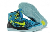 Women Nike Kobe 9 Mid Elite Blue Yellow Black