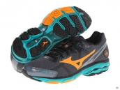 Mizuno Wave Rider 17 Black Yellow Green