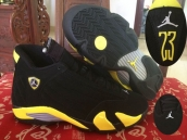 Super Perfect Air Jordan 14 Black Yellow 600