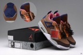 AAA Air Jordan 4 LV Brown Navy Blue Pink