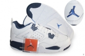 AAA Air Jordan 4 White Navy Blue