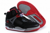 AAA Women Air Jordan Spizike Suede Black Grey Red