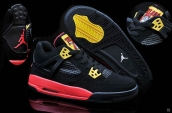 Air Jordan 4 Pirate Black Red Yellow