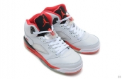 AAA Air Jordan 5 White Red Black