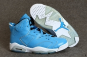 AAA Air Jordan 6 Women Blue White