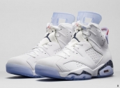 AAA Air Jordan 6 Women White Red