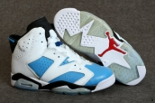 AAA Air Jordan 6 Women White Blue