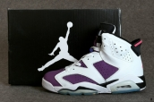 AAA Air Jordan 6 White Purple