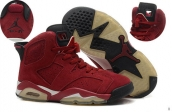 AAA Air Jordan 6 Women Suede Wine Red