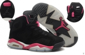 AAA Air Jordan 6 Women Suede Black Pink