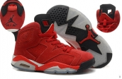 AAA Air Jordan 6 Women Suede Red