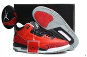 AAA Air Jordan 3 Retro Red Black White