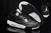 AAA Air Jordan 4 Retro Women Black White