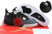 AAA Air Jordan 4 Retro Women Superman Black Dark Grey
