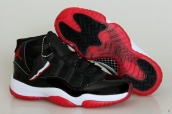 Perfect Air Jordan 11 Women Black Red White 180