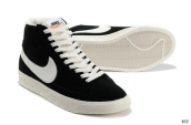 Nike Blazer High Suede Black White
