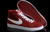 Nike Blazer High Leopard Red White Black