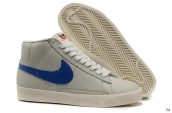 Nike Blazer High Leather Grey Blue