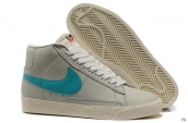 Nike Blazer High Leather Grey Light Green