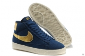 Nike Blazer High Navy Blue Golden