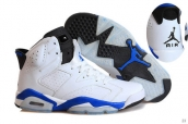 Air Jordan 6 White Blue Black
