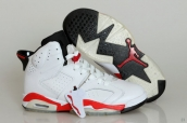 Perfect Air Jordan 6 White Red Black 170