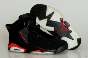 Perfect Air Jordan 6 Black Red 170
