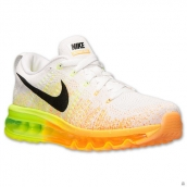 Nike Flyknit Air Max White Yellow Black