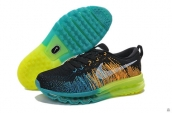 Nike Flyknit Air Max Black Blue Fluorescent Green