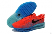 Nike Flyknit Air Max Red Blue Black