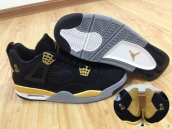 Super Perfect Air Jordan 4 OVO Black Golden 380
