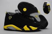 AAA Air Jordan 14 Black Yellow