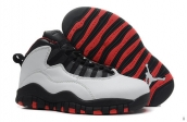 Air Jordan 10 Women White Black Red