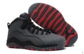 Air Jordan 10 Women Dark Grey Black Red