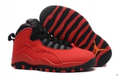 Air Jordan 10 Women Red Black